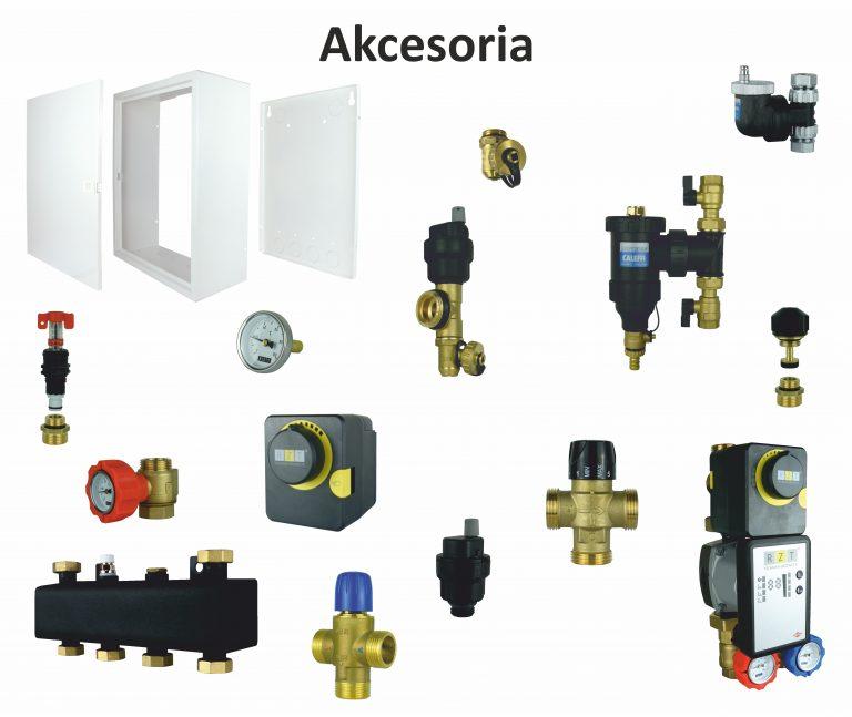 Akcesoria do układów typu BOX, sprzęgieł hydraulicznych, grup pompowych, rozdzielaczy podłogowych, rozdzielaczy grzejnikowych