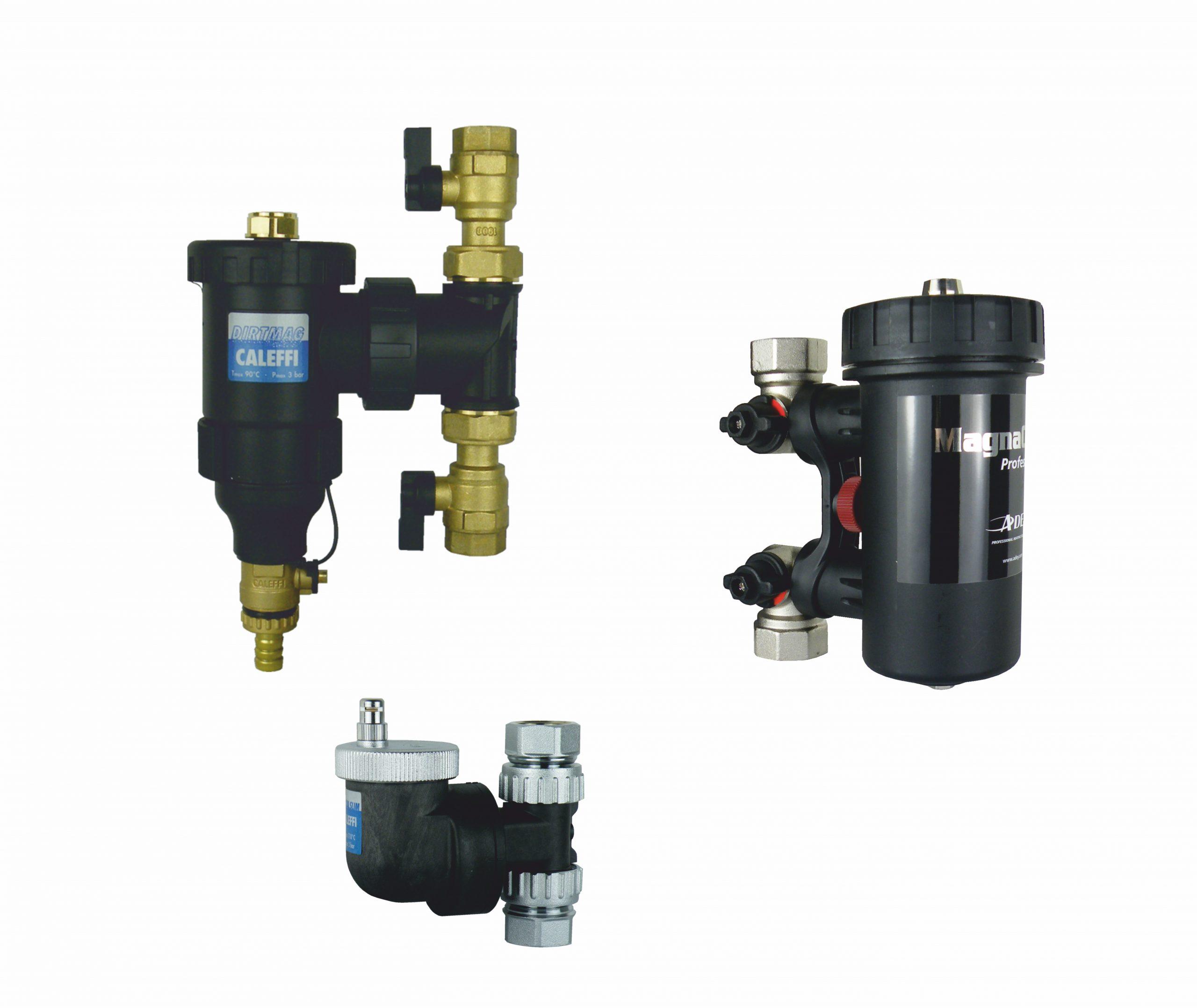 Separator powietrza Caleffi, separator zanieczyszczeń Caleffi, separator zanieczyszczeń i powietrza ADEY