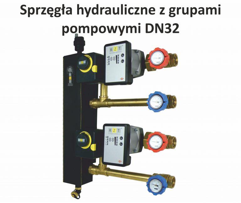 Układy kotłowe DN20 typu S-BOX. Układ posiada sprzęgło z ukierunkowanym przepływem lub rozdzielacz kotłowy, grupy pompowe (z zaworem trójdrożnym i siłownikiem (niski parametr), z zaworem termostatycznym (niski parametr), uniwersalna, bez podmieszania (wysoki parametr) oraz separatory powietrza i zanieczyszczeń. Wszystko zamknięte w szafce natynkowej